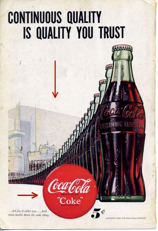 color and contrast coke ad